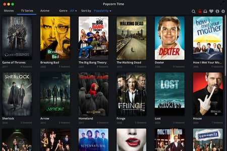 Capture d'écran de Popcorn Time